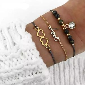 *New* 3 piece love bracelet set